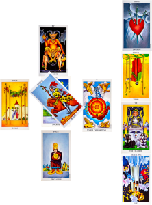 """In this weeks #Tarot Circle Patty has sent in a Celtic Cross reading for our interpretation.  The question is:  """"What do I need to learn about becoming the person I need to be in this lifetime?"""""""