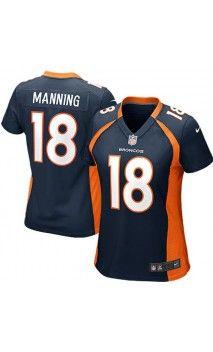 117178af2dc NFL Women's Denver Broncos Peyton Manning Navy Blue Game Jersey #18 #QB  #womensjersey