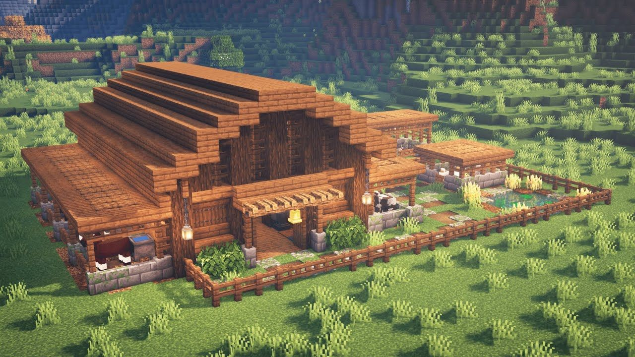 Minecraft how to build a barn for animals read