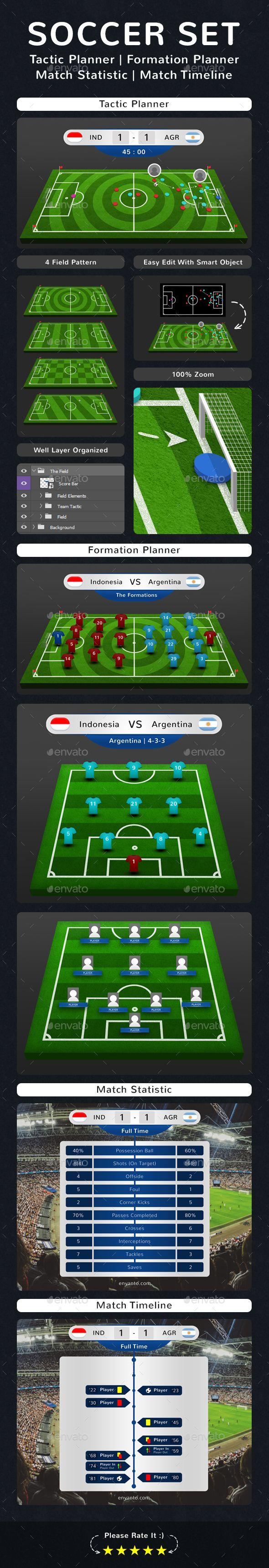 Soccer Set Tactic Formation Statistic Match Timeline Game Design Football Tactics