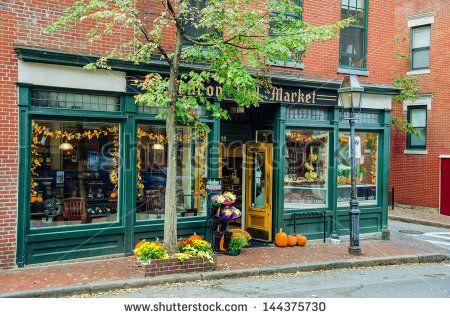 Boston Oct 6 A Retail Shopfront In The Historic Beacon Hill