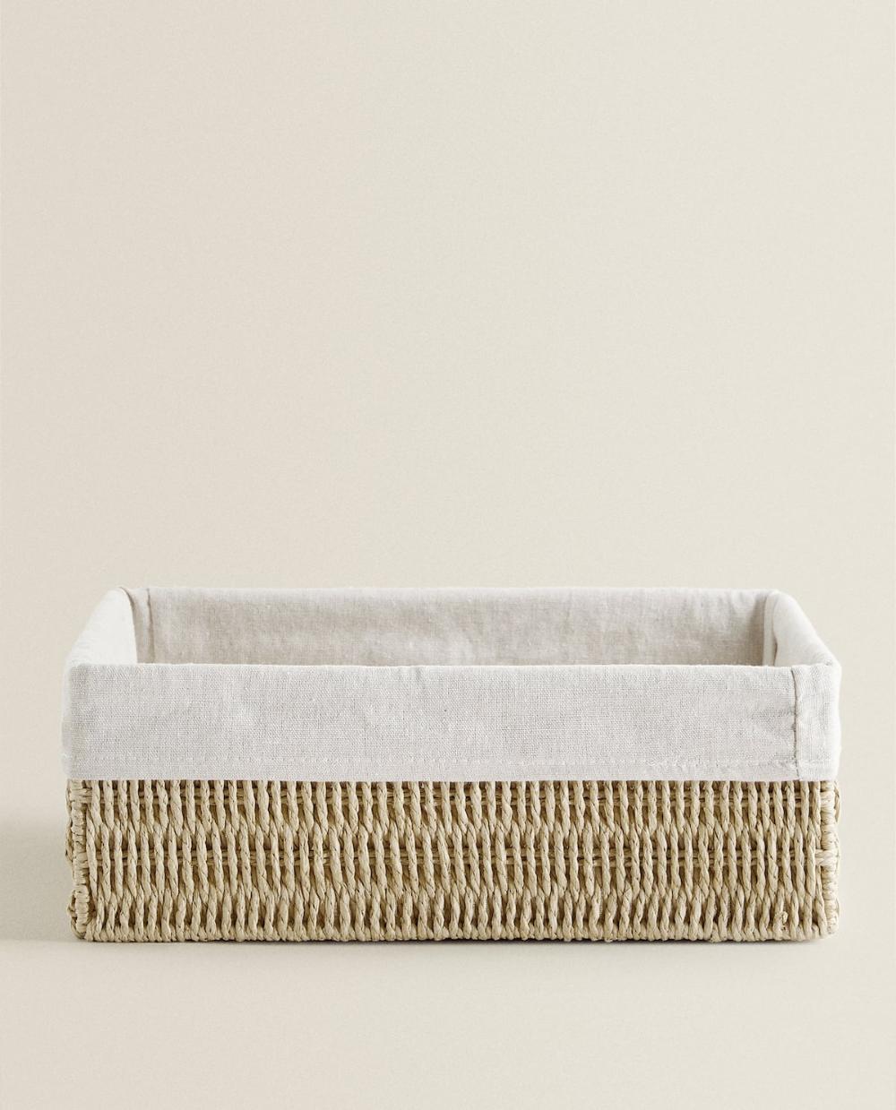 Corbeille Rectangulaire Avec Tissu Interieur I 2020 Zara Home
