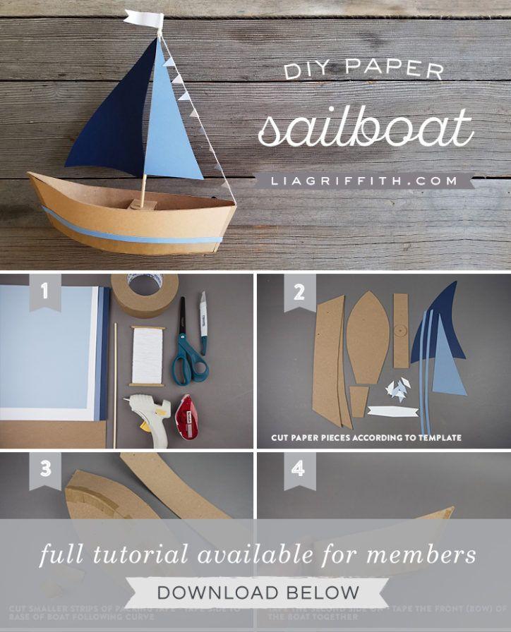 Photo of Ship Party Snacks mit diesem DIY Paper Sailboat Centerpiece! – DIY Papier Blog
