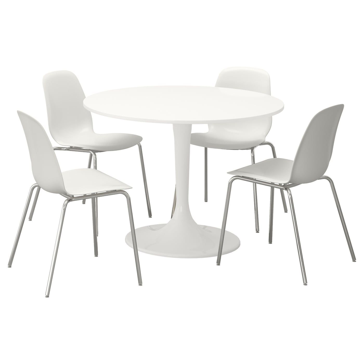 Docksta Leifarne Table And 4 Chairs White White Height 29 3 8 Diameter 41 3 8 Shop Here Ikea En 2020 Ensemble Table Et Chaise Table Ikea Table Et Chaises
