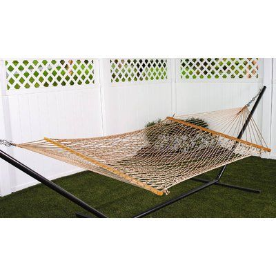 Bay Isle Home Kaliyah Double Cotton Rope Hammock Color Brown