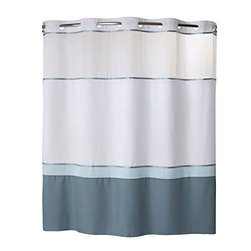 Hookless Rbh40my024 Color Block Shower Curtain With Peva Https