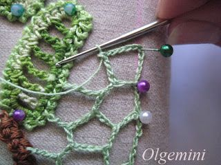 Outstanding Crochet: Irish Crochet. Even edge of uneven net. Master Class from Olgemini.