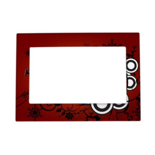 "Artsy Holiday Background Magnetic 5""x7"" Photo Frame $16.90 ..."