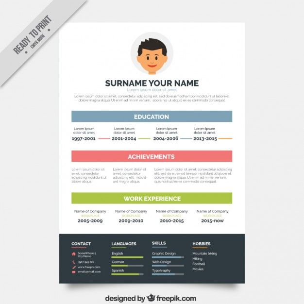 modelo de currículo simples na cor Resume templates free - colorful resume template free download