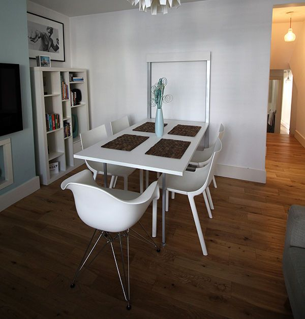 Italian Folding Dining Table Wall Mounted White Contemporary