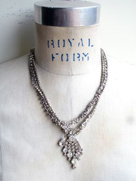 Bling Bling Bling Repurposed Necklace #2 Okay, I'll admit it. This necklace is derivative of a big movie star jewelry designer. I saw his designs in InStyle Magazine on a starlet and checked out his website. I almost lost it when I saw that his necklaces were in the twenty-five hundred dollar range and up range! Not kidding. His designs look like...