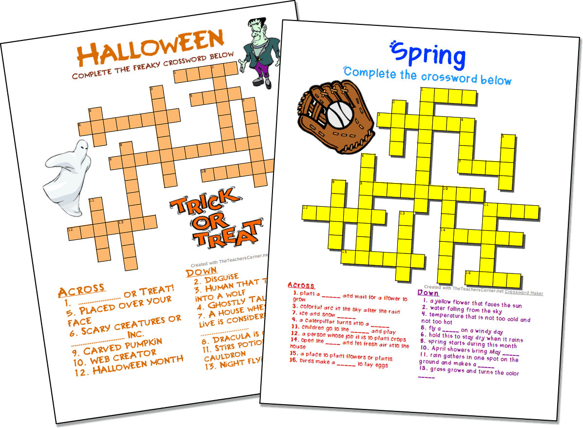 Our Crossword Puzzle Maker Allows You To Add Images Colors And Fonts To Create Profession Crossword Puzzles Printable Crossword Puzzles Crossword Puzzle Maker