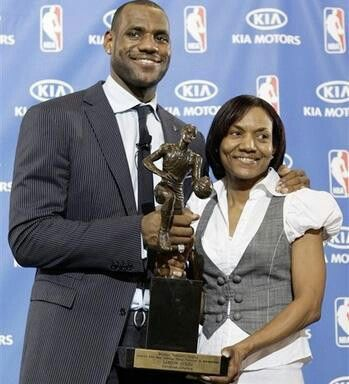 Lebron James and mom!