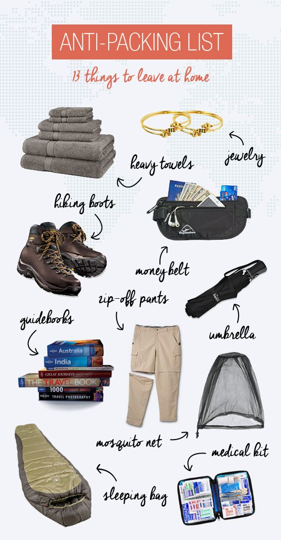Anti-Packing List: 13 Things You Should Leave At Home | Travel