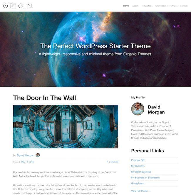 Origin: A Perfectly Balanced WordPress Starter Theme | Premium ...