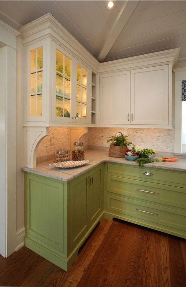 Cheery cabinets.. backsplash | Grey kitchen tiles, Kitchen ...