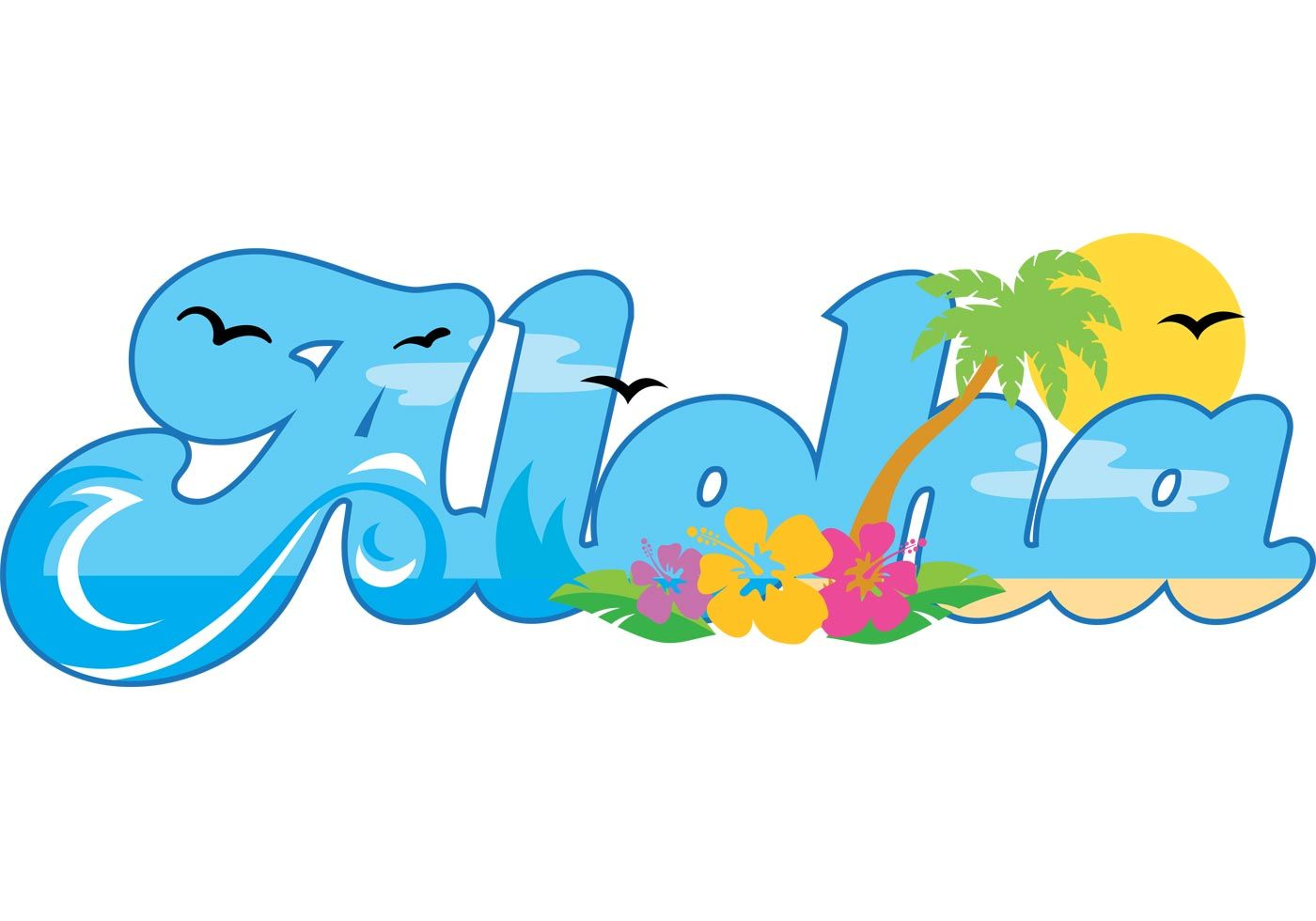 Hawaiian Clip Art Backgrounds | Aloha Hawaii Vector | Free Vector ...