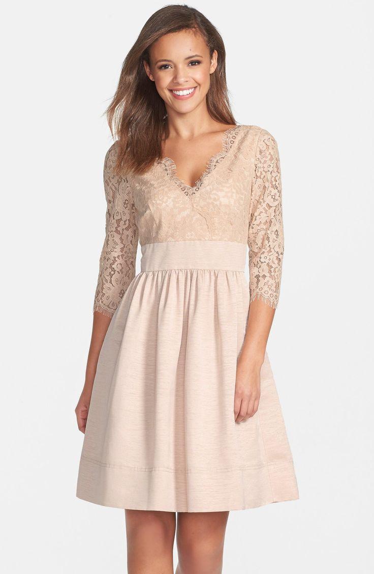 Nice Cocktail Dresses Eliza J Lace & Faille Dress (Regular & Petite ...