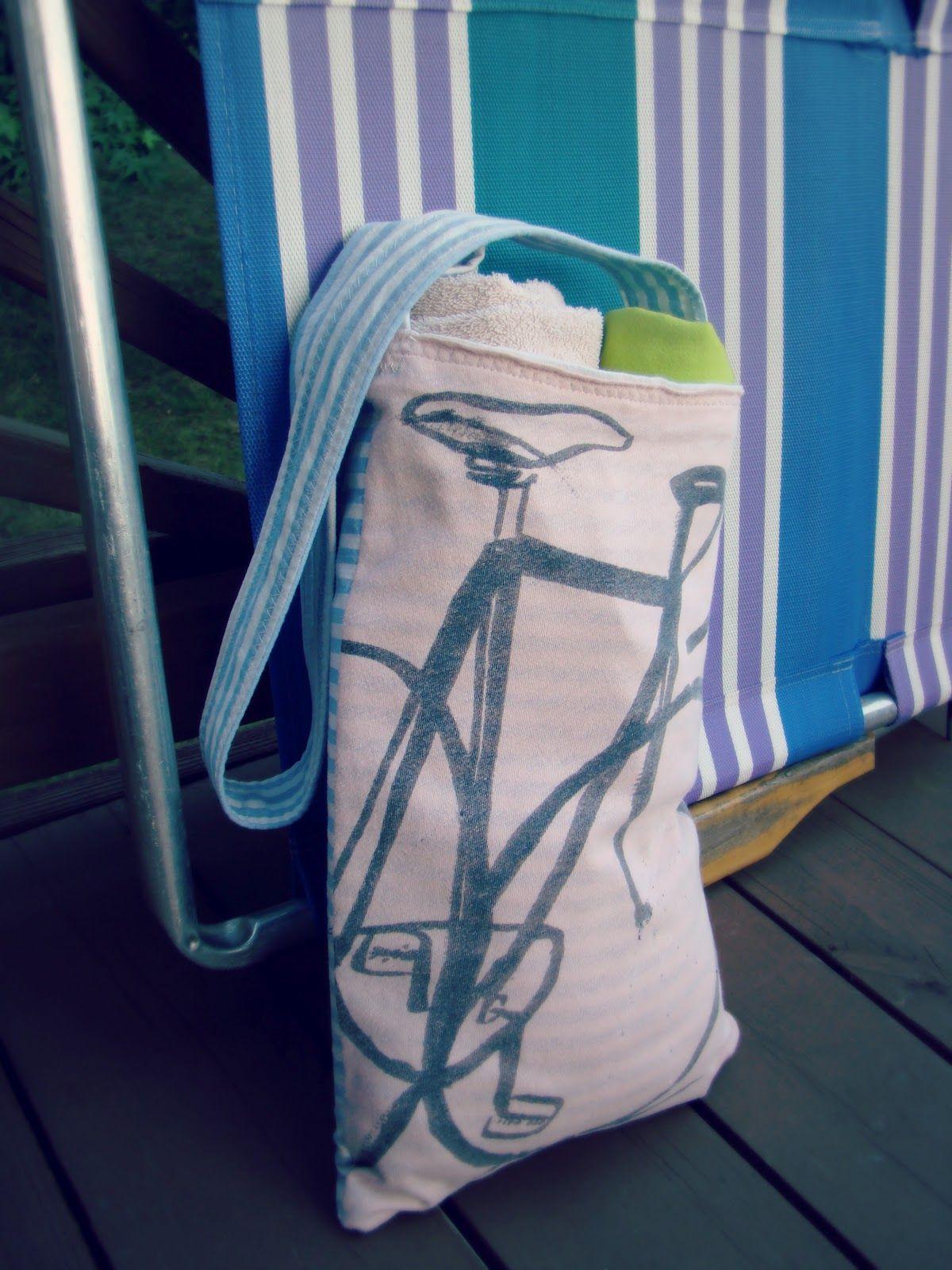 Diy tshirt beach towel bag beach towel bag tshirt