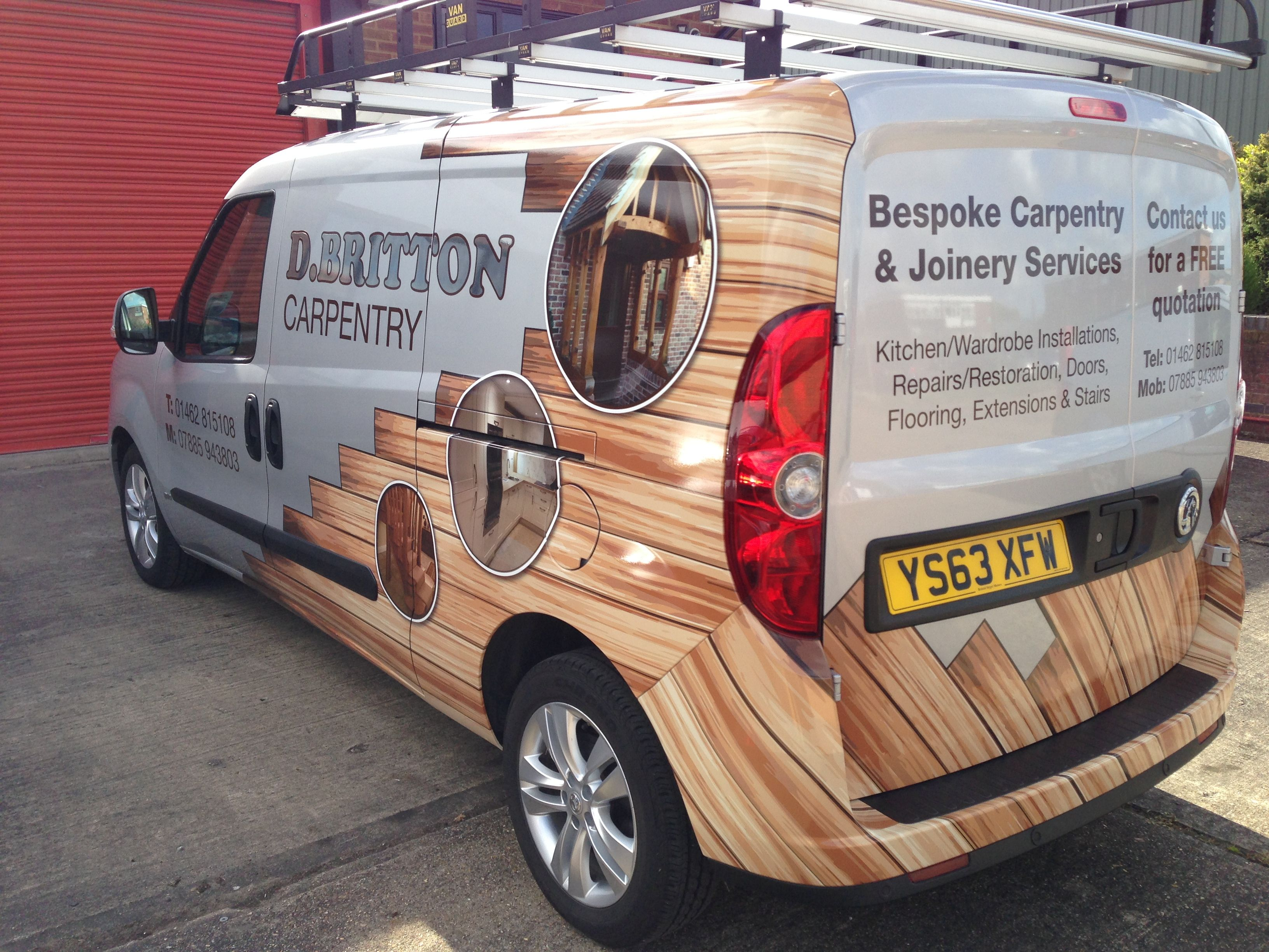 3m 1080 wood effect partial wrap vehicle