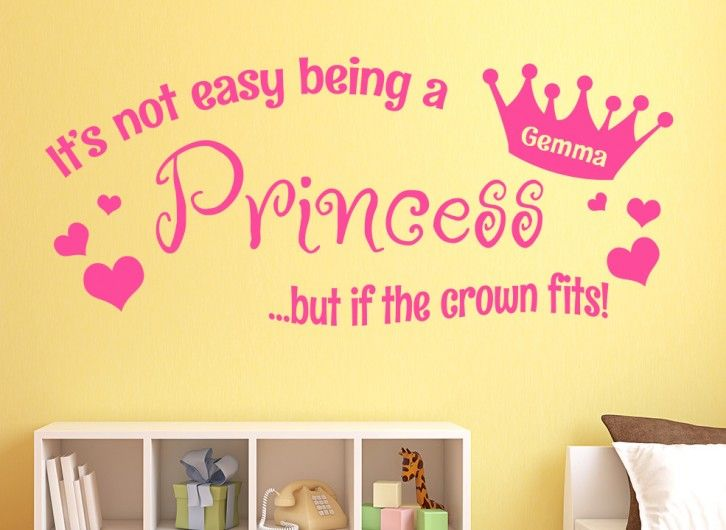 Not Easy Being A Princess Personalised Wall Sticker | Toy boxes ...