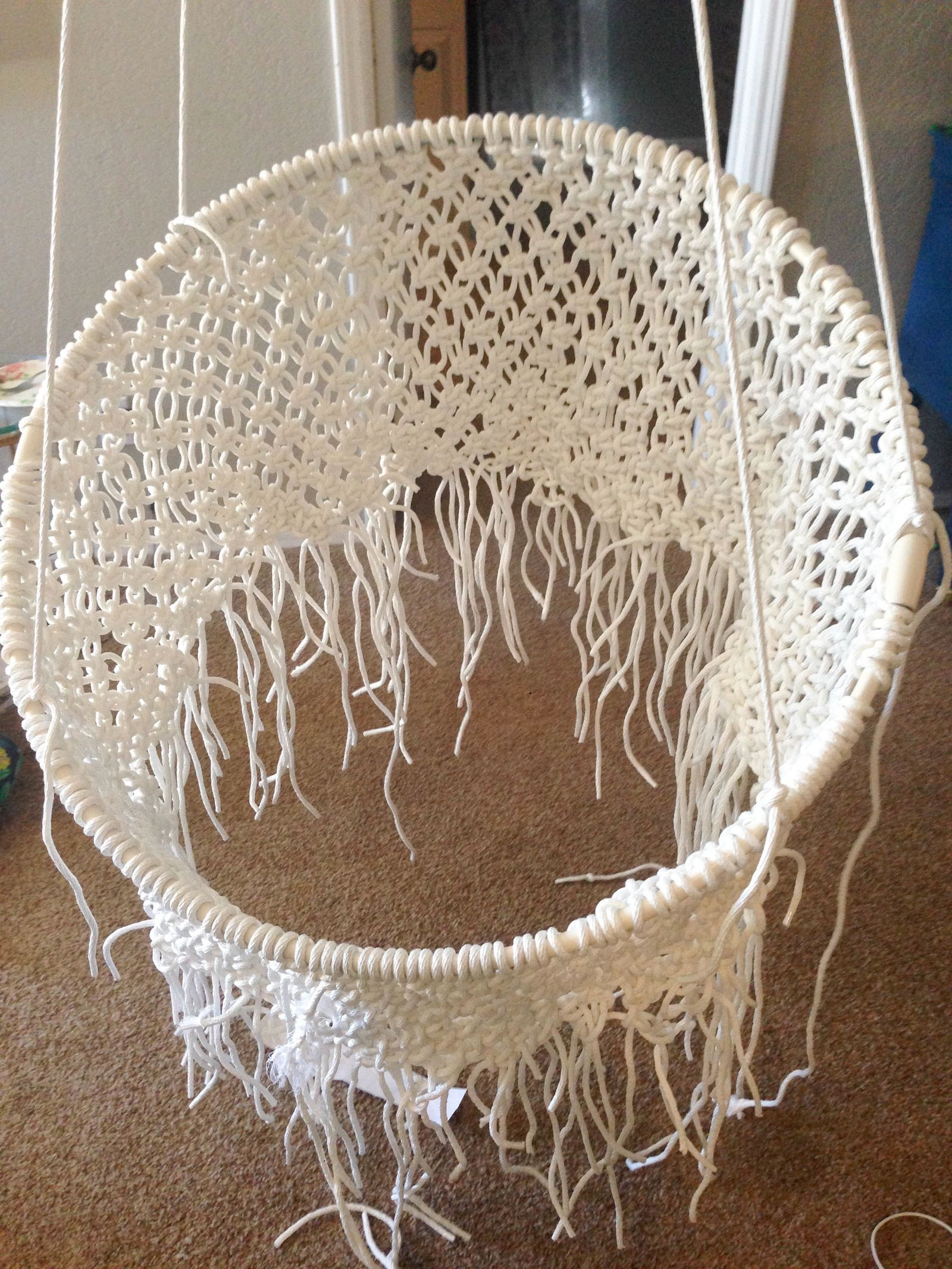 Diy hanging macramé chair ceilings craft and crafty