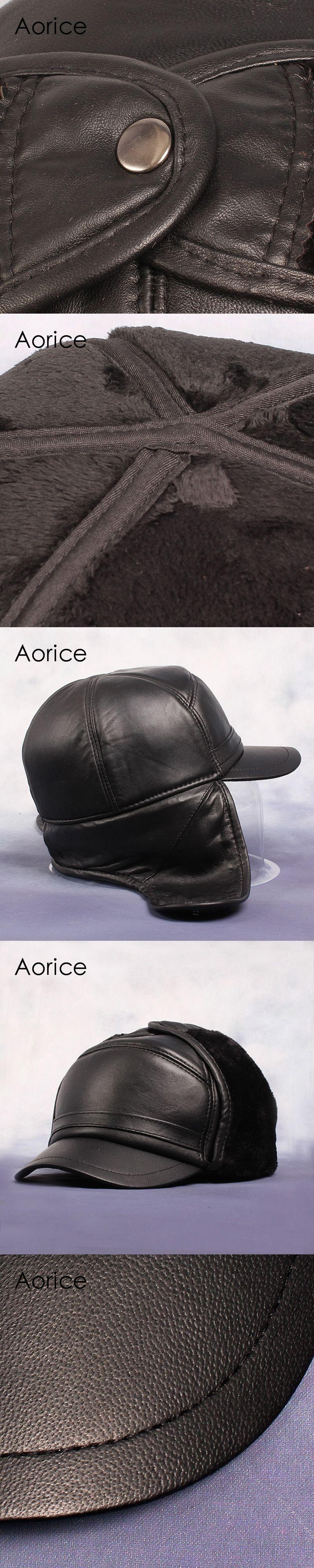 e1c56e2a7b8 HL055 Ball Cap BLACK Cap Ear wamer EarFlap Hat Skull Russian Unisex hats  caps brand new winter warm baseball caps hats