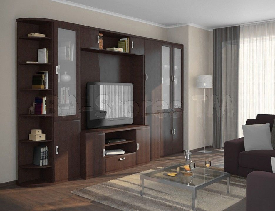 Interior Furniture Simple Wall Units Storage Elegant Wooden Large Tv