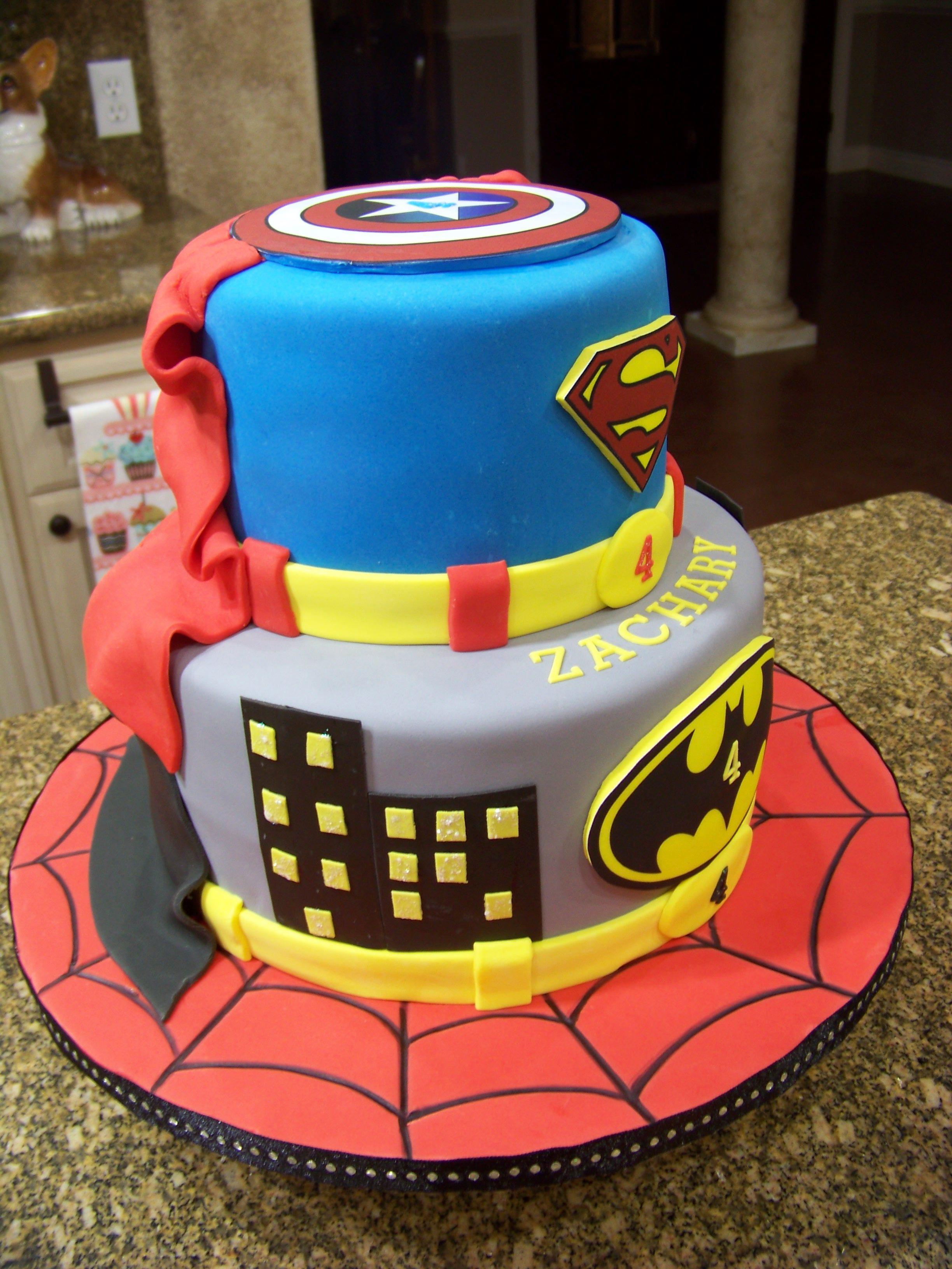 Super Hereo Cake Superhero Cake Spiderman Batman