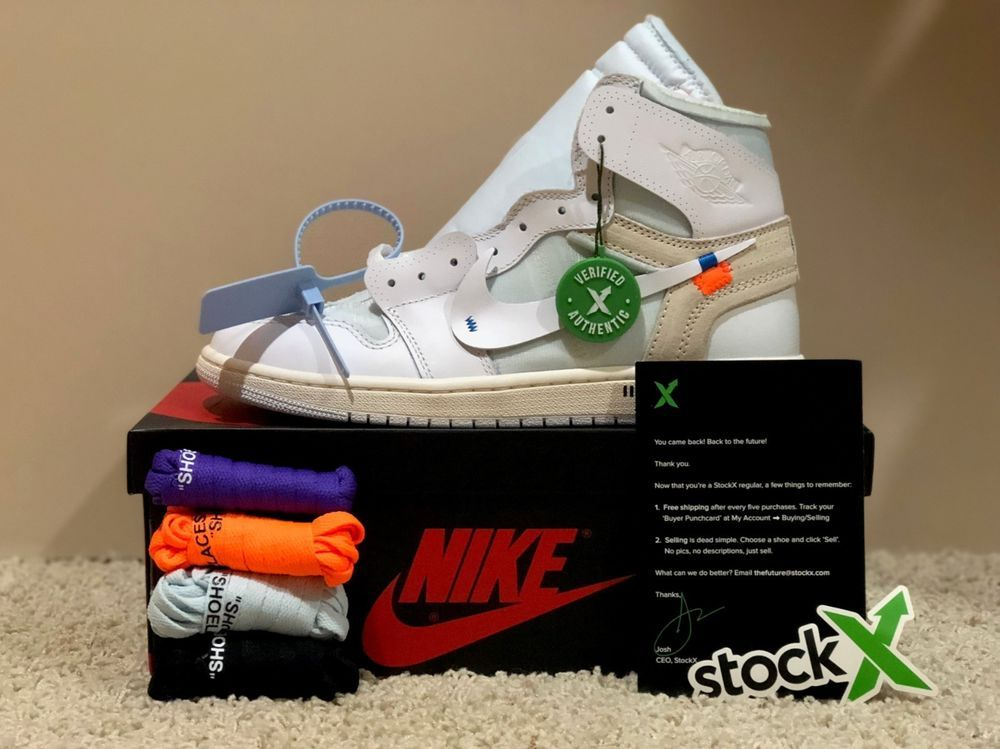 5fefed4a JORDAN 1 X OFF-WHITE NRG MEN'S SIZE 9 DEADSTOCK STOCK X VERIFIED #fashion  #clothing #shoes #accessories #mensshoes #athleticshoes (ebay link)