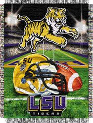 48 x 60 The Northwest Company Officially Licensed NCAA LSU Tigers Home Field Advantage Woven Tapestry Throw Blanket