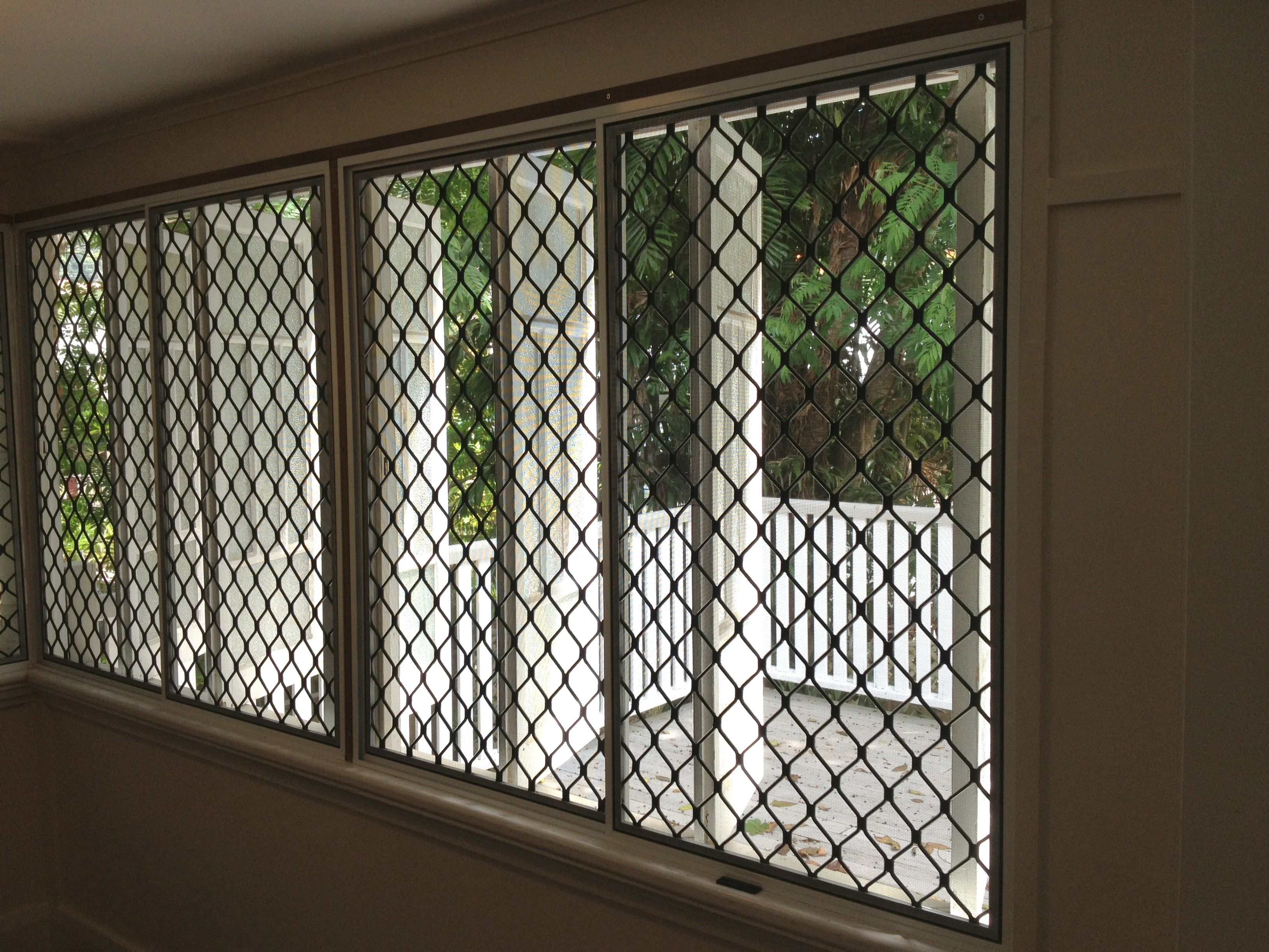 Queenslander Push Out Windows With Security Screens