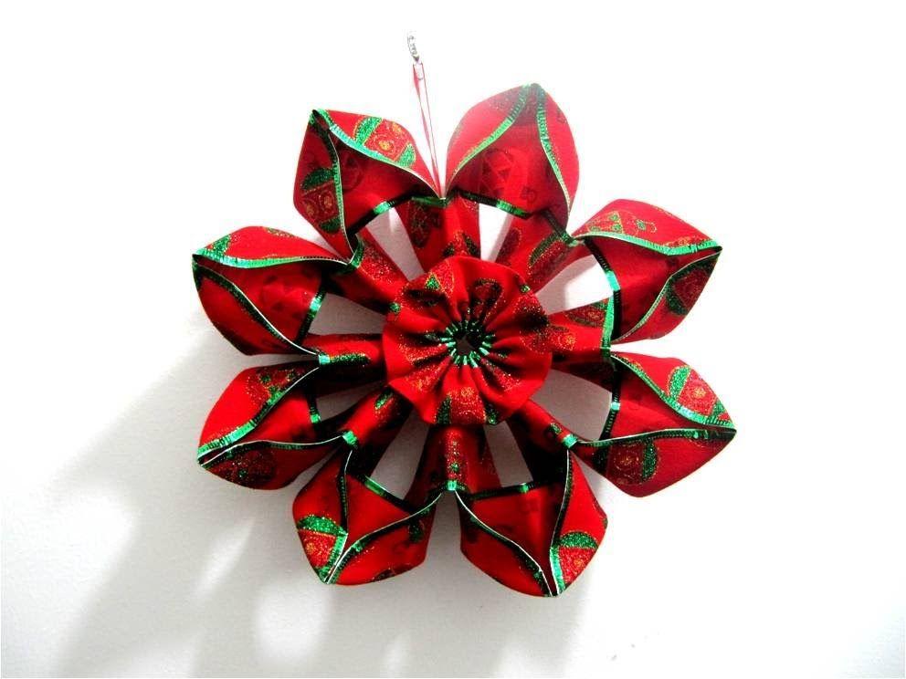 Moños flores navideñas en cintas - Christmas flowers in ribbons bows ...