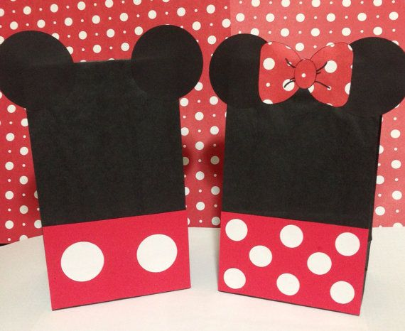 Reserved For Christina Mickey Mouse Minnie Inspired Birthday Party Treat Bags