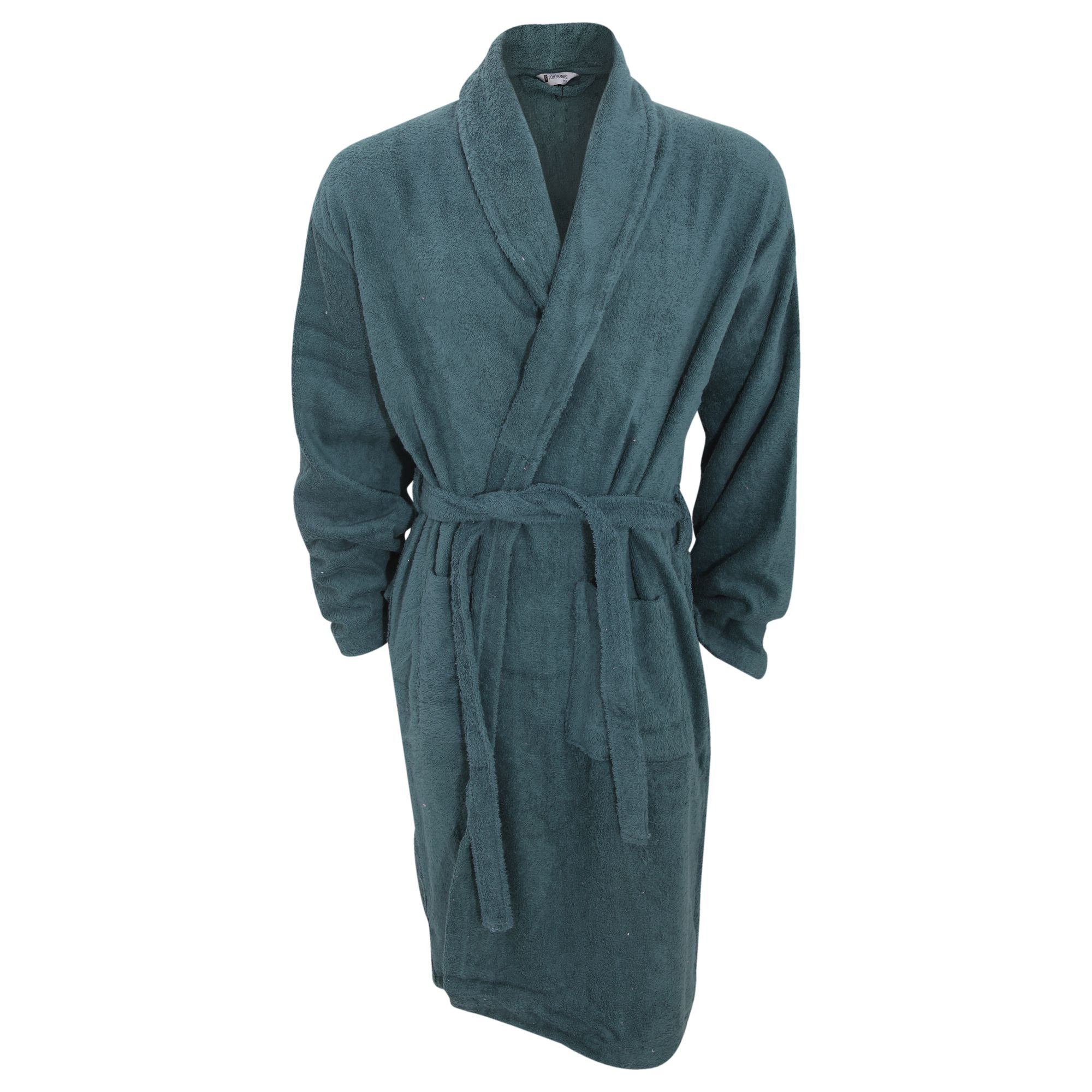Mens Plain Cotton Towelling Robe (£19.95) || With a heavy-duty ...