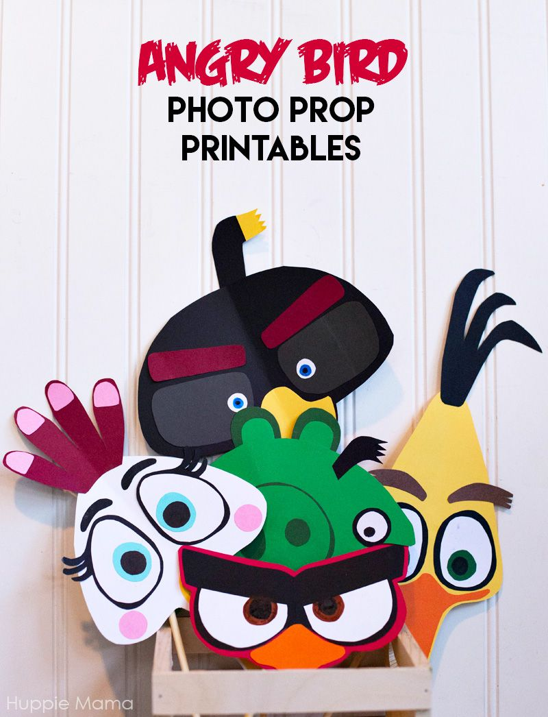 red angry bird face template for sticking onto party bags u0026 party