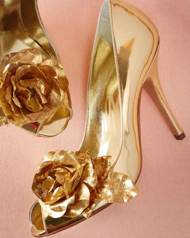 BHLDN Golden Rose Pumps | Buy ➜ http://shoespost.com/bhldn-golden-rose-pumps/