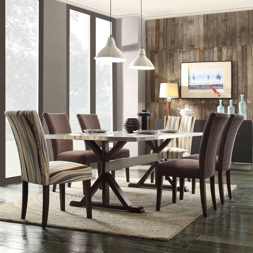 Inspire Q Vinemont Chrome plated Rectangular Stretcher Dining