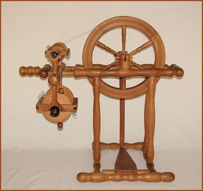 DUTCH 'GELDERS' NORMANDY STYLE DOUBLE DRIVE SPINNING WHEEL 11