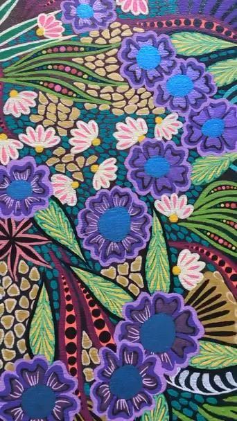 Painting Purple Flowers