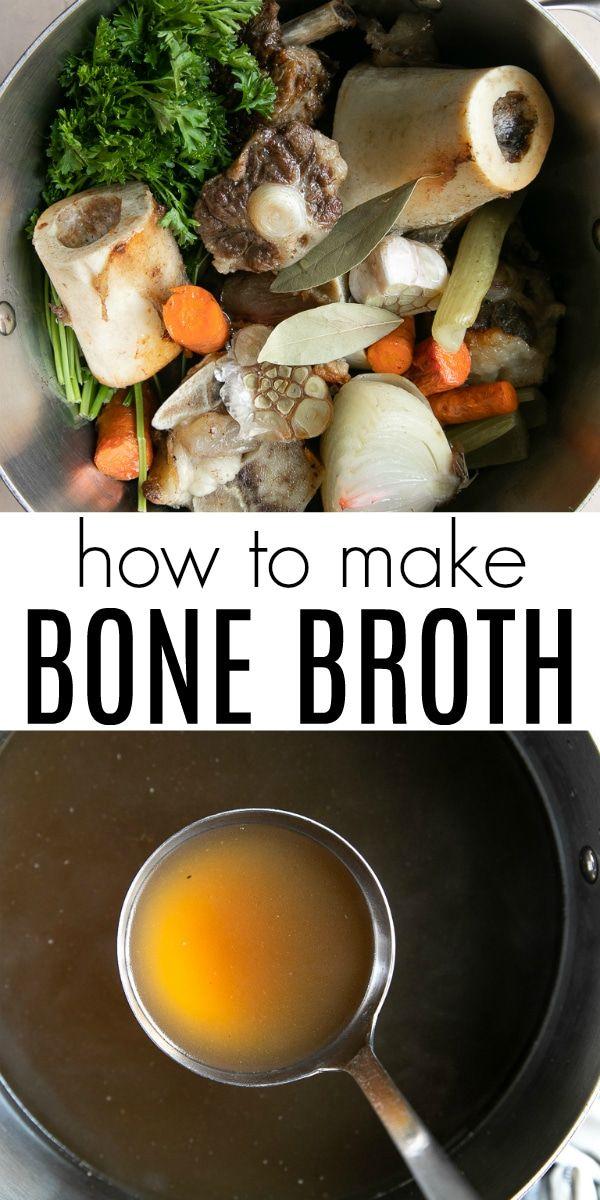 Homemade Bone Broth Recipe (How to Make Bone Broth) #bonebrothrecipe