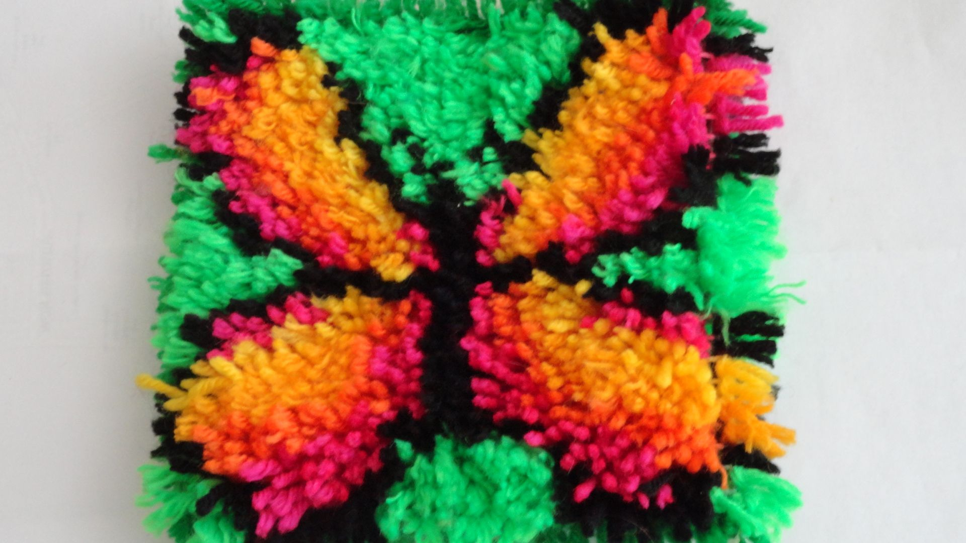 yarn butterfly rug