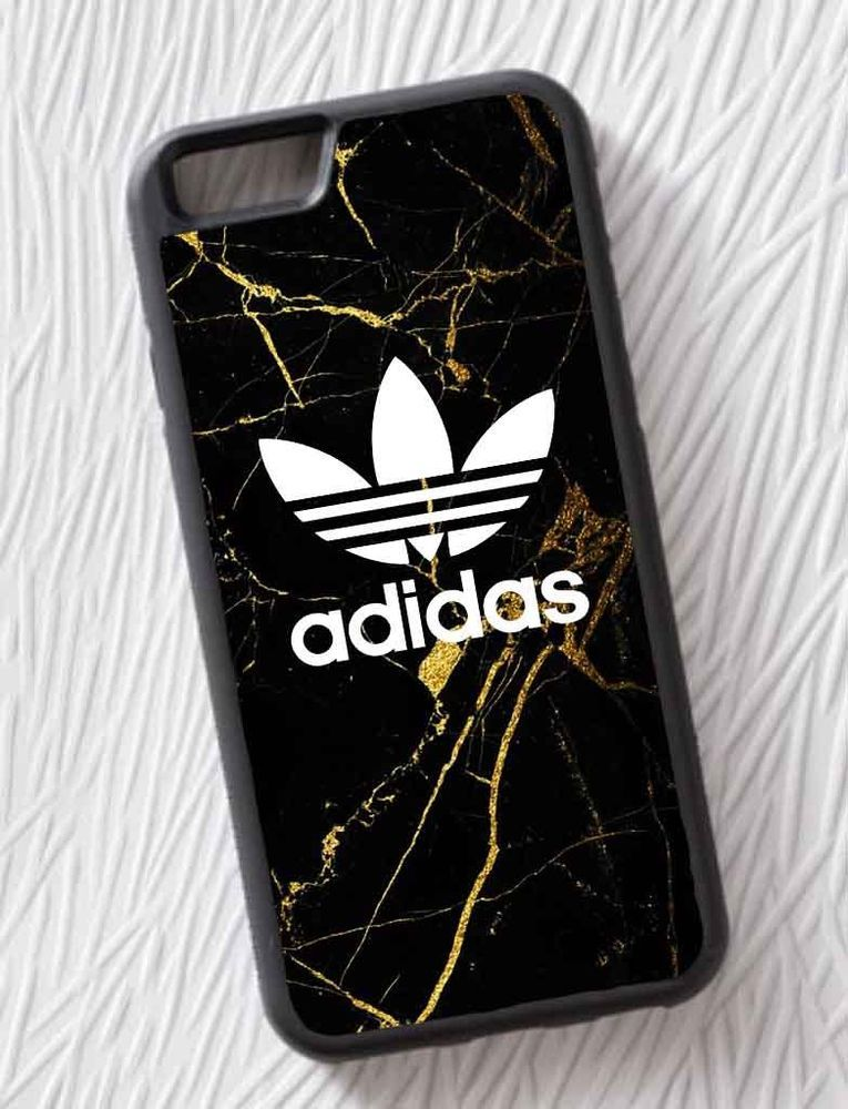 Adidas Gold Marble White Logo Custom For iPhone 6 6s 9bdef81097c