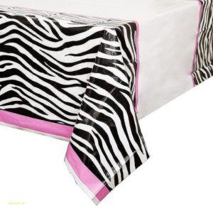 Zebra Print Table Runner Plastic