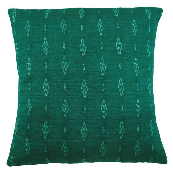 Home Decoration Green Cotton Cushion Cover Home Décor Abstract Print Pillow Case Handmade India Pillow PL14595