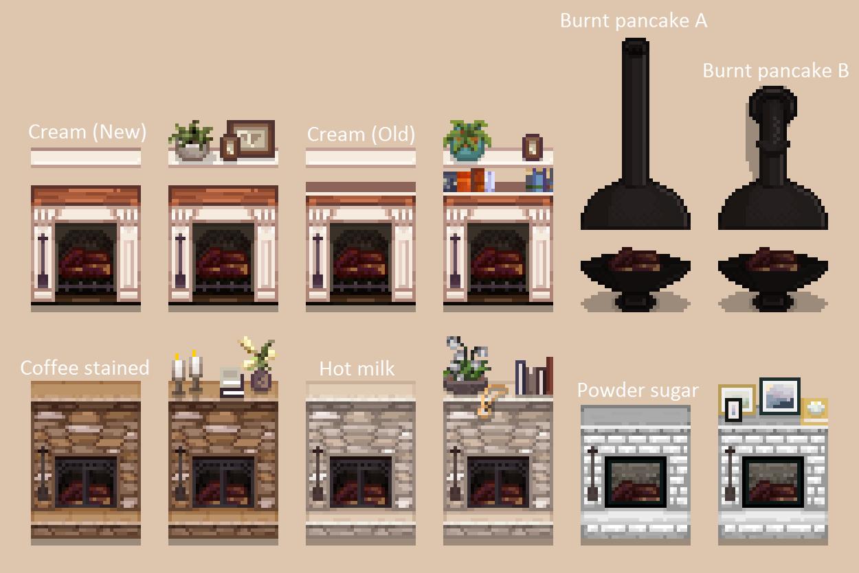 Warm Cozy Fireplace Stardew Valley Stardew Valley Farms Pixel Art