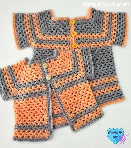 Lil Darlin Baby Cardigan Pattern in Multiple Sizes   Crochet For ...