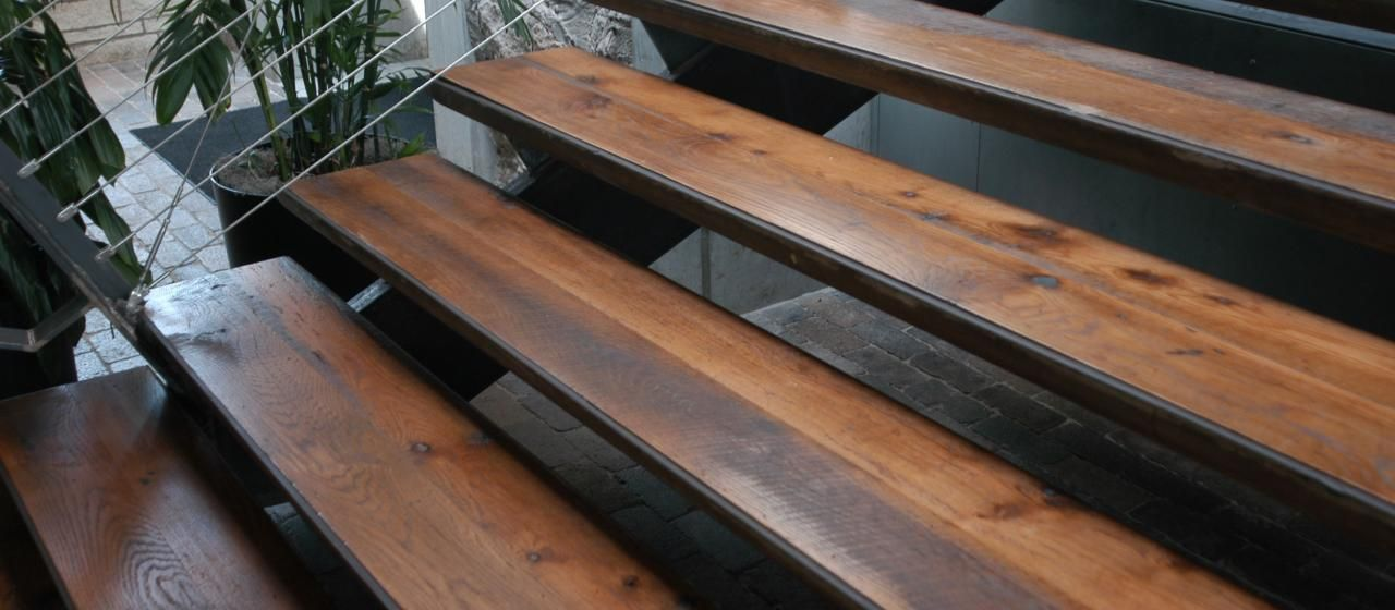 Reclaimed Antique Heart Pine Rustic   Custom Stair Treads