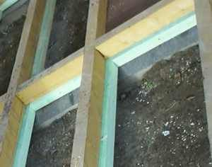Dachlatten für den Fußbodenaufbau Fundament gartenhaus