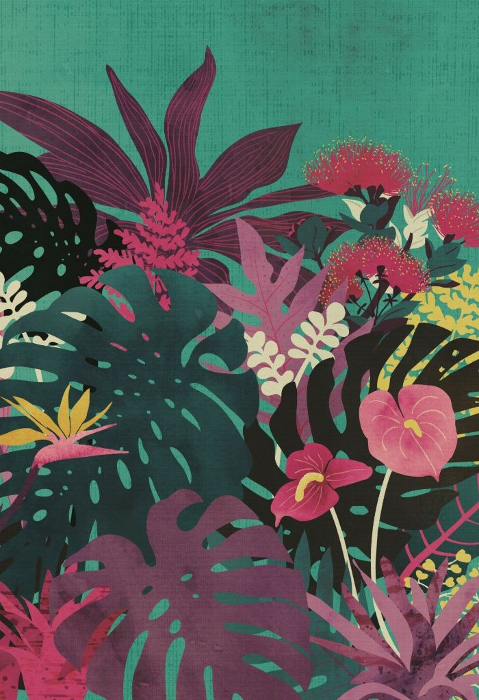 Tropical island summer nostalgia | Art Print | Art Prints ...